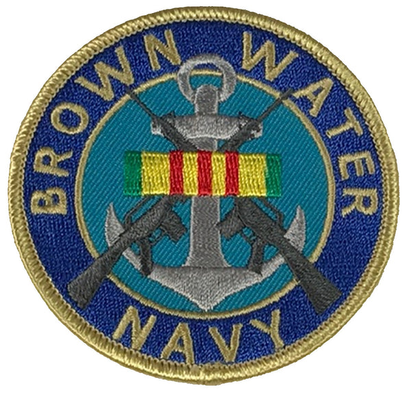 BROWN WATER NAVY W/ VIETNAM SERVICE RIBBON PATCH - HATNPATCH