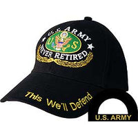 US ARMY NEVER RETIRED HAT - HATNPATCH