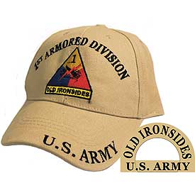 1ST ARMORED DIVISION TAN HAT - HATNPATCH