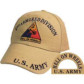 2ND ARMORED DIVISION TAN HAT - HATNPATCH