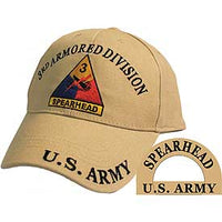 3RD ARMORED DIVISION TAN HAT - HATNPATCH