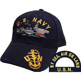 US NAVY BY SEA AIR OR LAND HAT - HATNPATCH