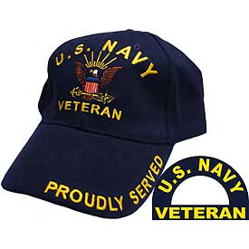 US NAVY VETERAN PROUDLY SERVED HAT