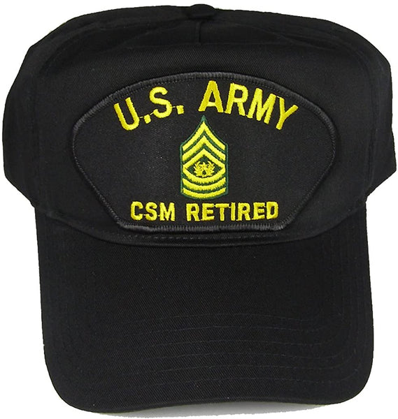 US ARMY CSM COMMAND SERGEANT MAJOR RETIRED HAT - HATNPATCH