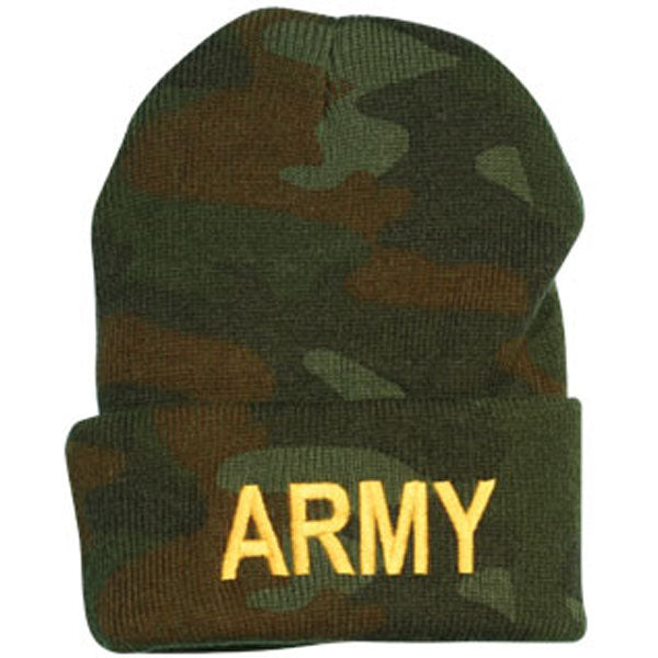Army ARMY Letters Direct Embroidered Camo Watch Cap
