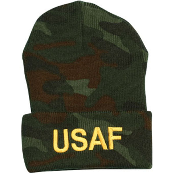 Air Force USAF Letters Direct Embroidered Camo Watch Cap
