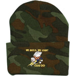 Navy Seabee We Build We Fight Can Do Camo Watch Cap