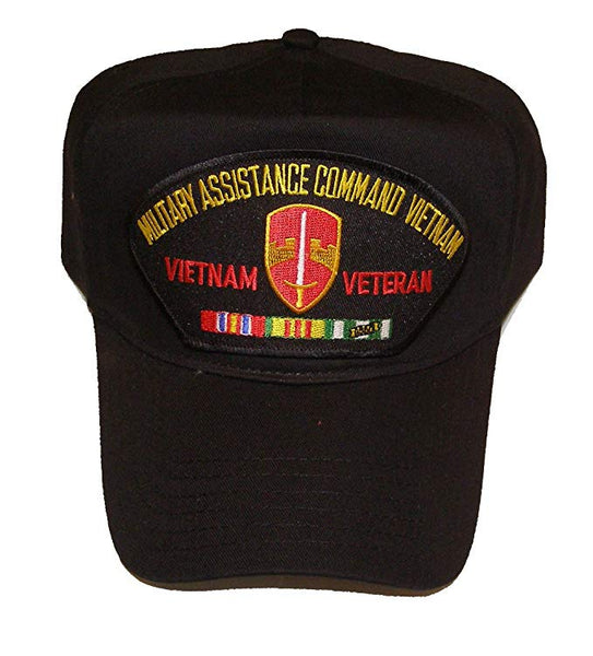 MILITARY ASSISTANCE COMMAND VIETNAM MACV Black/Golf Hat w/Snap Back - CLEARANCE