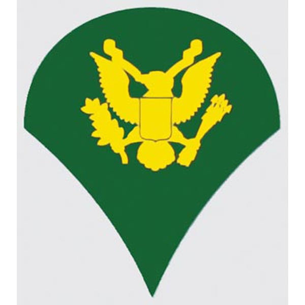 US Army E-4 Specialist Rank 2 inch Decal