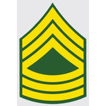 US Army E-8 Master MSG 2 inch Decal