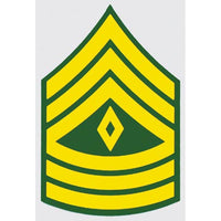 US Army E-8 1SG 1st Sergeant 2 inch Decal