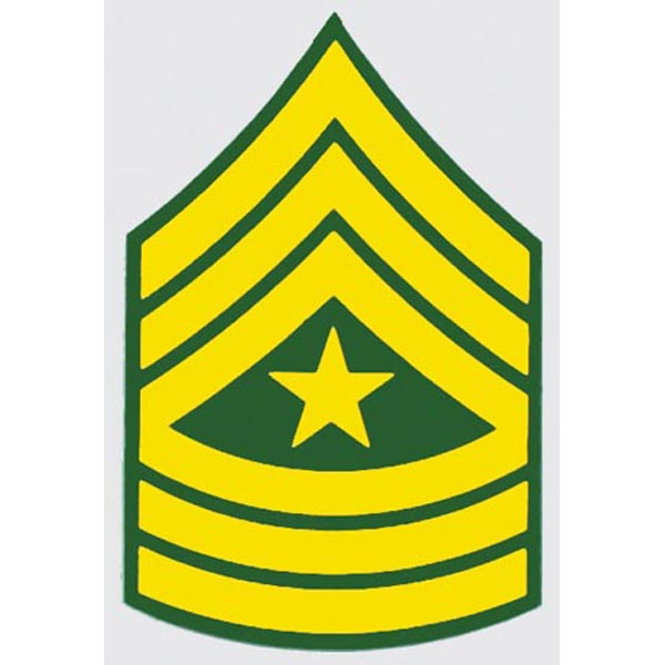 US Army E-9 SGM 2 inch Sergeants Major Decal