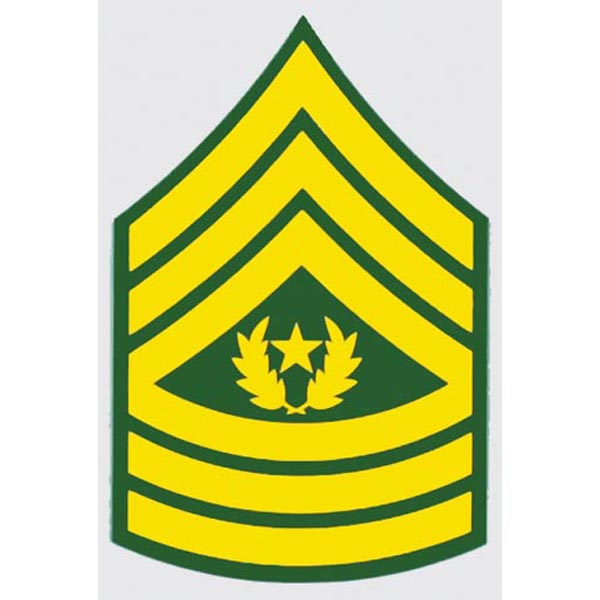 US Army E-9 CSM 2 inch Command Sergeants Major Decal