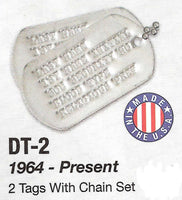 Genuine Military Dog Tags 1964 - Present - HATNPATCH