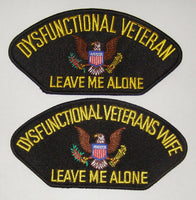 Dysfunctional Veteran His and Hers Patch Set - Black - HATNPATCH
