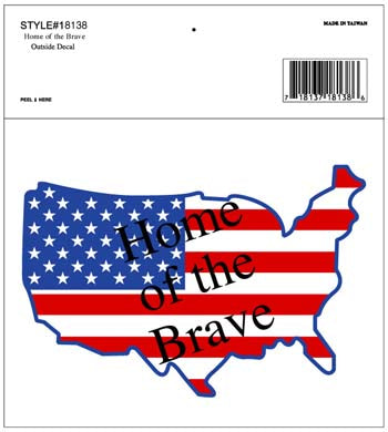 HOME OF THE BRAVE DECAL