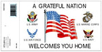 A GRATEFUL NATION WELCOMES YOU DECAL