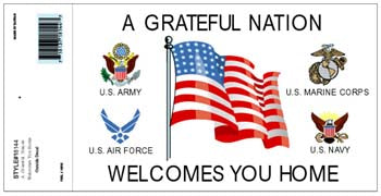 A GRATEFUL NATION WELCOMES YOU DECAL - HATNPATCH