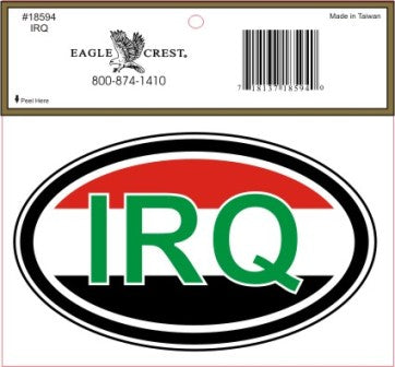 IRQ EURO STYLE DECAL IRAQ