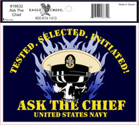 ASK THE CHIEF USN DECAL
