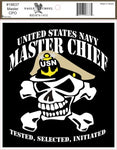 MASTER CHIEF W/SKULL DECAL - HATNPATCH