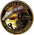 AIR FORCE MAINTENANCE - MAINTAINING THE SKIES PATCH - HATNPATCH