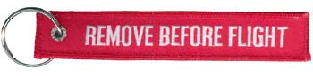 KEYCHAIN-REMOVE BEFORE FLIGHT