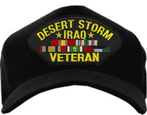 DESERT STORM - IRAQ VETERAN W/RIBBONS HAT - HATNPATCH
