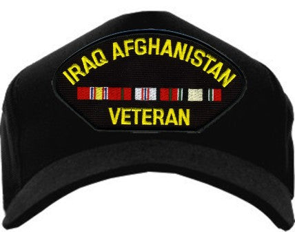 IRAQ AFGAHANISTAN VETERAN W/ RIBBONS HAT - HATNPATCH