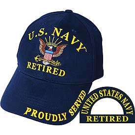 US NAVY RETIRED HAT - HATNPATCH