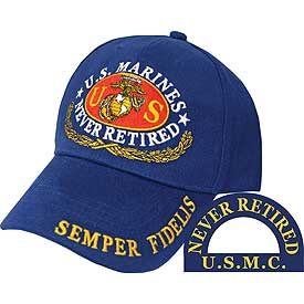 US MARINE NEVER RETIRED HAT - HATNPATCH