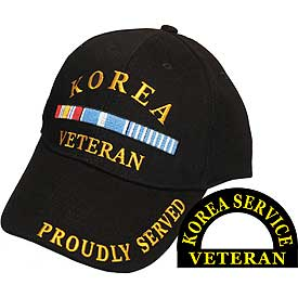 KOREA VETERAN HAT W/RIBBONS - HATNPATCH