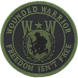WW WOUNDED WARRIOR PATCH - OD Green/Black