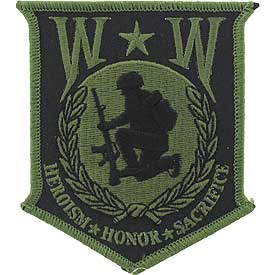 WW WOUNDED WARRIOR PATCH - OD GREEN