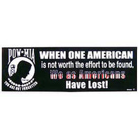 When One American….. POW Bumper Sticker - HATNPATCH