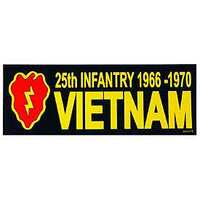 25th Infantry Division 1966 - 1970 Vietnam Bumper Sticker