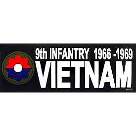 9th Infantry Division 1966 - 1969 Vietnam Bumper Sticker - HATNPATCH