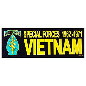 Special Forces 1962 - 1971 Vietnam Bumper Sticker - HATNPATCH