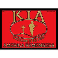 KIA RED/BLACK/GLOD BUMPER STICKER - HATNPATCH