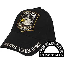 POW MIA EAGLE EMBROIDERED HAT