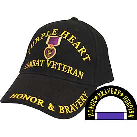 PURPLE HEART COMBAT VETERAN W/MEDAL - HATNPATCH