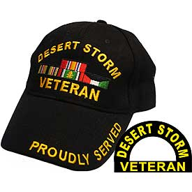 DESERT STORM VETERAN HAT W/RIBBONS - HATNPATCH