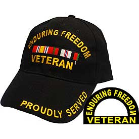 ENDURING FREEDOM VETERAN HAT W/RIBBONS - HATNPATCH