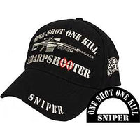 SNIPER W/ RIFLE EMBROIDERED HAT - HATNPATCH