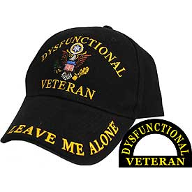DYSFUNCTIONAL VETERAN EMBROIDERED HAT