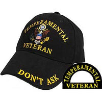 TEMPERAMENTAL VETERAN EMBROIDERED HAT