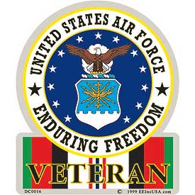 US Air Force OEF Enduring Freedom Veteran Decal