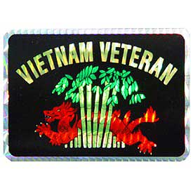 Vietnam Veteran Decal - HATNPATCH