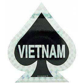 Vietnam Ace of Spades Decal - HATNPATCH
