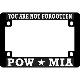 Not Forgotten POW Heavy Plastic Motorcycle License Plate Frame